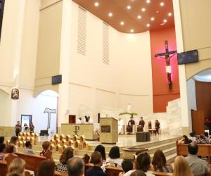 Missa com a presença das Capelinhas de Nossa Senhora